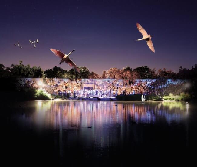 Scène de concerts des Musicales du Parc des oiseaux